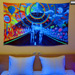 """New Horizons"" UV Black Light Fluorescent Backdrop / Wall Hanging"