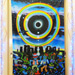 """Eclipse Over Stonehenge"" UV Black Light Fluorescent Backdrop / Wall Hanging"