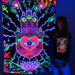 """The Hand"" UV Black Light Fluorescent Backdrop / Wall Hanging"