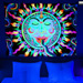 """Rainbow Sun"" UV Black Light Fluorescent Backdrop / Wall Hanging"