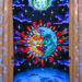 """Magic Sunmoon"" UV Black Light Fluorescent Backdrop / Wall Hanging"