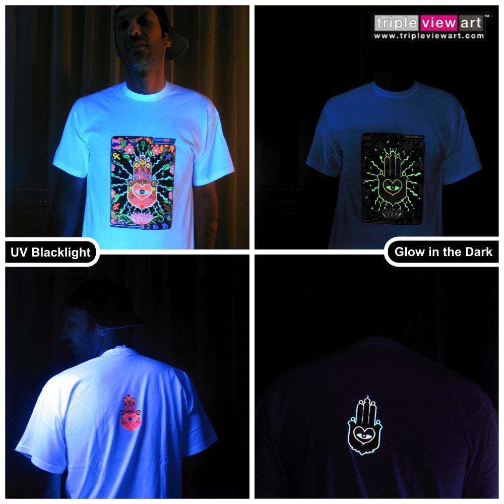 Design t shirt glow in the dark -  The Hand Men S Uv Blacklight Glow In The Dark