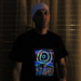 """Eclipse Over Stonehenge"" Men's UV-blacklight & Glow-in-the-dark T-shirt"