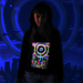 """Eclipse Over Stonehenge"" Women's UV-blacklight & Glow-in-the-dark Hoodie"