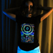"""Eclipse Over Stonehenge"" Women's UV-blacklight & Glow-in-the-dark T-shirt"