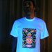 """The Hand"" Men's UV-blacklight & Glow-in-the-dark T-shirt"