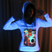 """Merlin"" Women's UV-blacklight & Glow-in-the-dark Hoodie"