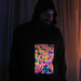 """Mushrooms"" Men's UV-blacklight & Glow-in-the-dark Hoodie"