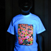 """Mushrooms"" Men's UV-blacklight & Glow-in-the-dark T-shirt"