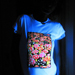 """Mushrooms"" Women's UV-blacklight & Glow-in-the-dark T-shirt"