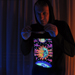 """Magic Sunmoon"" Men's UV-blacklight & Glow-in-the-dark Hoodie"