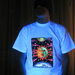 """Magic Sunmoon"" Men's UV-blacklight & Glow-in-the-dark T-shirt"