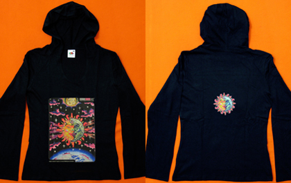 blacklight hoodie in normal daylight