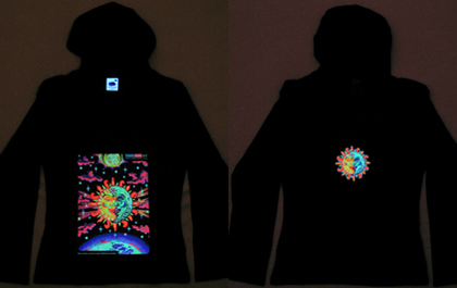 blacklight hoodie under uv / black light