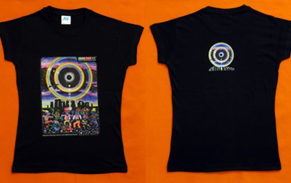 blacklight t-shirt in normal daylight