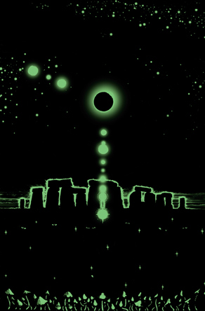 Eclipse Over Stonehenge [glow-in-the-dark]