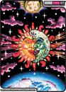 """Magic Sunmoon"" psychedelic t-shirt, blacklight t-shirt, glow-in-the-dark t-shirt"