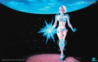 """B.I.O.mechanoid; psychedelic poster, blacklight poster, glow-in-the-dark poster"